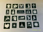 Christmas themed sets & stencils for glitter tattoos